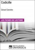 eBook: Codicille de Gérard Genette