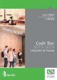 eBook: Code Bac pour l'Université de Namur – 2015 - 2016