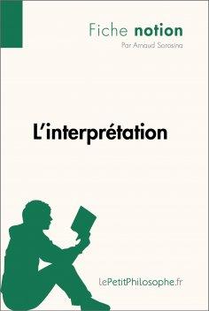 eBook: L'interprétation (Fiche notion)