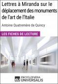eBook: Lettres à Miranda sur le déplacement des monuments de l'art de l'Italie de Quatremère de Quincy