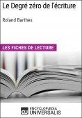 eBook: Le degré zéro de l'écriture de Roland Barthes