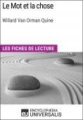 eBook: Le Mot et la chose de Willard Van Orman Quine