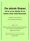 eBook: Das polternde Gespenst und das auf eine lächerliche Art von demselben befreite Schloss Rhünenbrücke.
