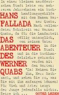 eBook: Das Abenteuer des Werner Quabs