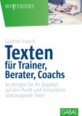 ebook: Texten für Trainer, Berater, Coachs