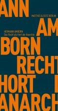 eBook: Das Recht als Hort der Anarchie