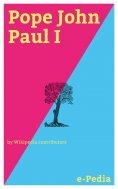 ebook: e-Pedia: Pope John Paul I